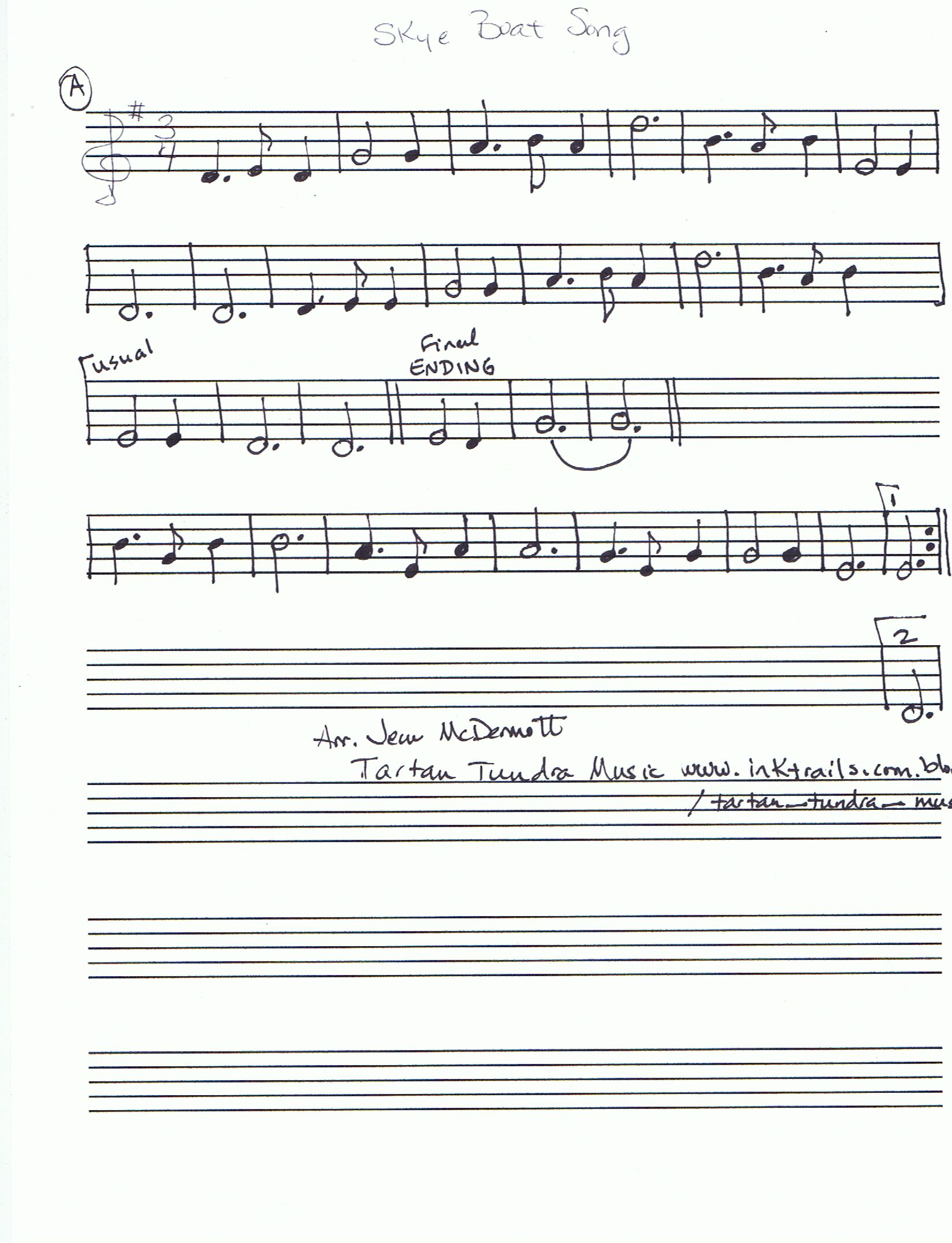 Sheet music from tartan tundra tunes and songs to download skye boat song 3465k hexwebz Image collections