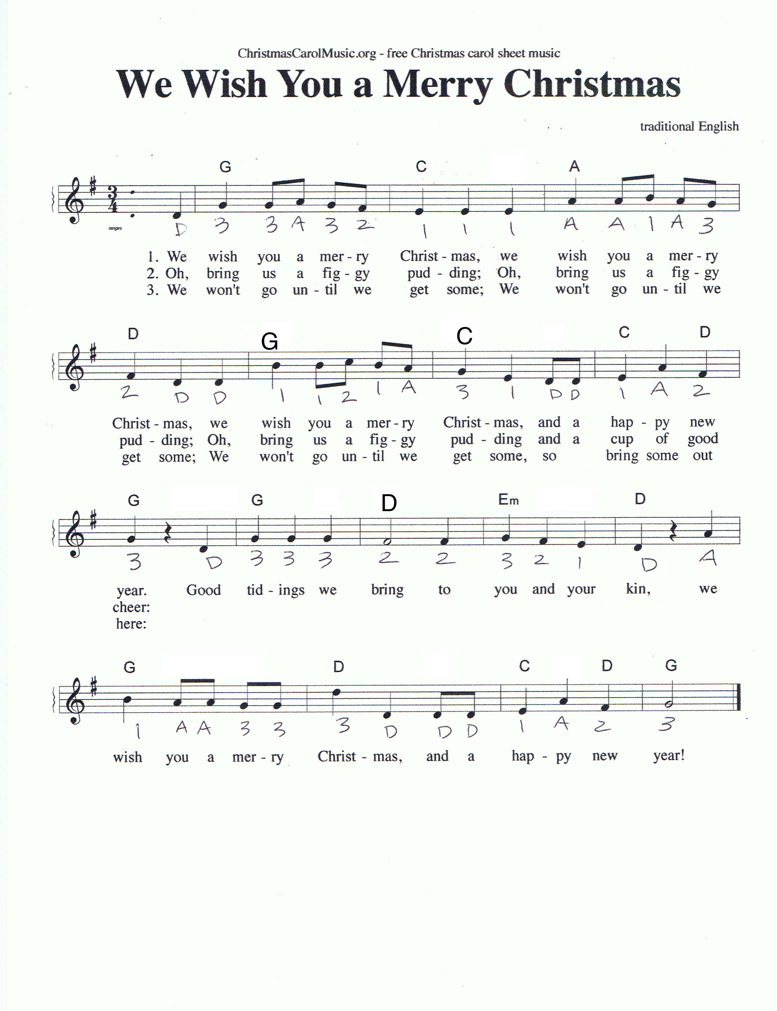 Sheet music from tartan tundra tunes and songs to download we wish you a merry christmas hexwebz Gallery